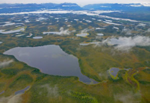 Alaskan lakes from the air