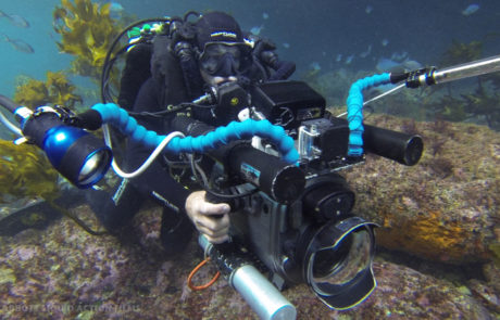 Dave Abbott filming on Poseidon rebreather © Liquid Action Films
