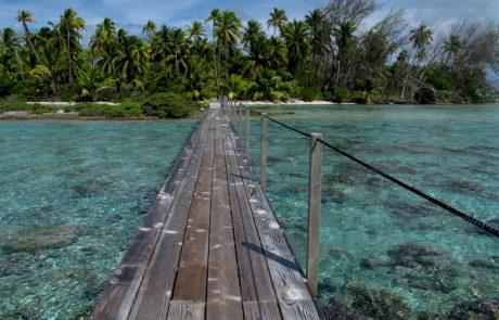 Tropical island resort, Fakarava, Tahiti
